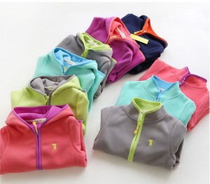 Image 1 - Polar fleece 2020spring new jacket double faced velvet childrens jacket boys Boy and girl keep warm in various colors s coat
