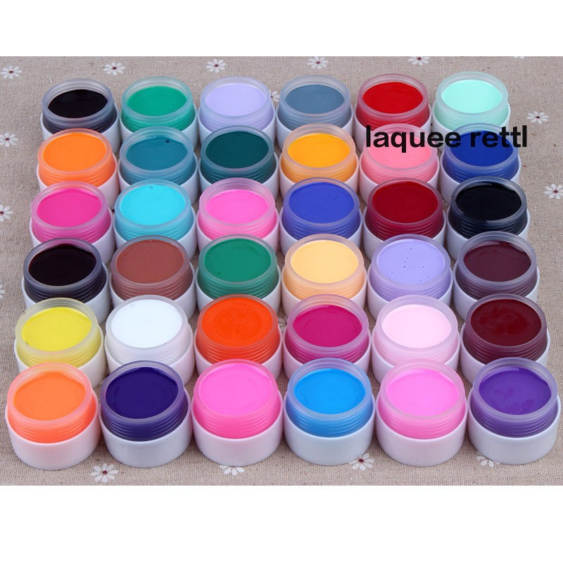Aliexpress Pure Colors Uv Gel Nail Polish Acrylic Art Design Manicure Extension Individual Color Selection From Reliable