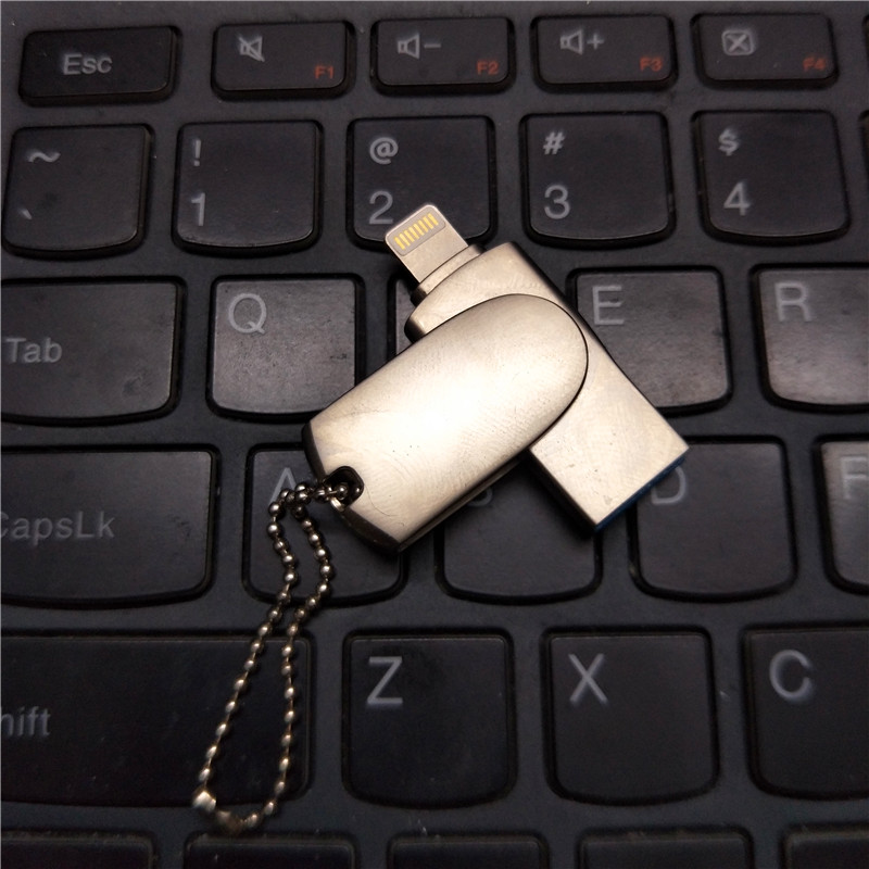 Cukup i-Flash Drive 32 GB 64 GB Usb Logam Pen Drive / Otg Usb Flash Drive Untuk iPhone 6/6 s / 6 s / 7/7 Plus / i-Flashdrive Flashdisk