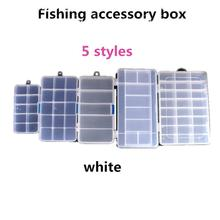 цена на Mounchain Plastic 5/10/15/24 Compartments Fishing Box Lure Bait Hook Tackle Storage Box Case Container for fishing Lure Storage