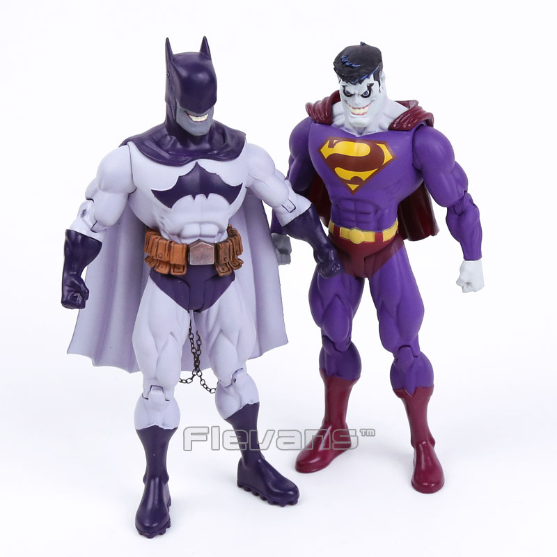 DC COMICS Super hero Evil Batman / Superman PVC Action Figure Collectible Model Toy 7 18cm shfiguarts batman injustice ver pvc action figure collectible model toy 16cm kt1840