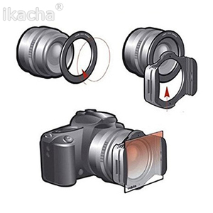 Image 5 - Complete ND 2 4 8 + Gradual ND4 Blue Orange Filter 49 52 55 58 62 67 72 77 82mm Kit for Cokin P Set SLR DSLR Camera Lens