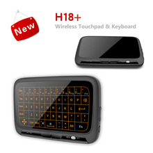 Mini H18 Plus Wireless Keyboard 2 4G USB Portable Backlit Keyboard With Touchpad Mouse for Windows