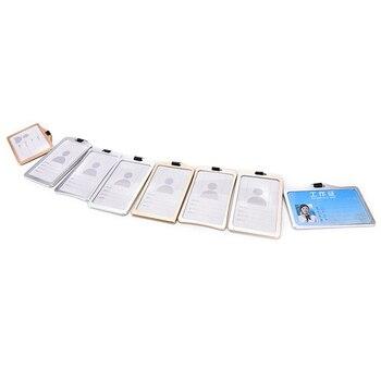 1 Uds. Llegada de aleación de Metal ID Badge titular de la tarjeta de seguridad de negocios titular de la etiqueta de paso oficina empresa suministros trabajo Bus titular de la tarjeta