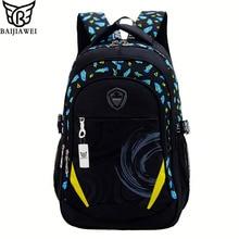 Baijiawei 2017 nueva escuela infantil bolsa de aliviar la carga unisex niños mochilas para adolescente mochila escolar mochila informal