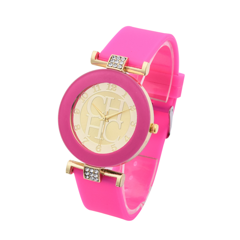 Kvinders ure 2018 New Brand Gold Quartz Watch Silikone Jelly Crystal - Dameure - Foto 5