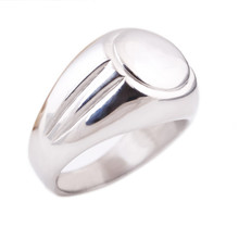 High Polished Signet Solid Stainless Steel Biker Ring Party Gift For Hiphop/Rock Style Jewelry