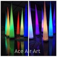 Affordable hurt Led Kolory Zmieniające Się Oświetlenie Nadmuchiwane Party Decoration Stożek