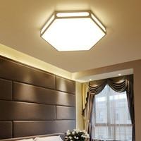 Modern white hexagon lamp led ceiling light fixture indoor lighting smart remote control ceiling lamp for living room bedroom