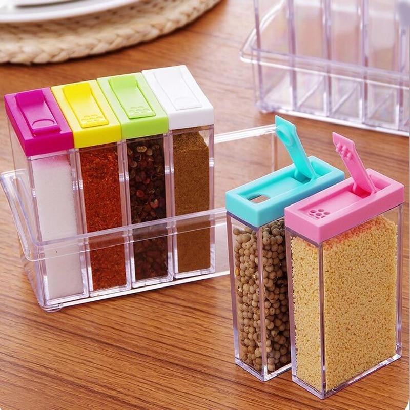 Hot 1set Plastic Convenience Flexible Six Pieces Storage Box