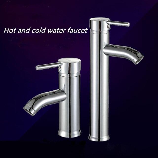 Mini Stylish Elegant Bathroom Basin Faucet Stainless Steel Vessel ...