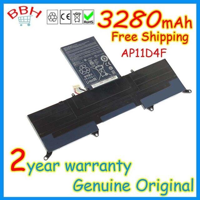 Genuine original AP11D4F battery for acer Aspire S3 13.3 inch Ultrabook Series ASS3 MS2346 S3-391-6407 AP11D3F batteries AKKU