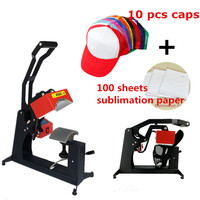 RB C142 Digital Sublimation Hats Caps Heat Press Machine Heat Transfer Printer including 10 caps and 100 sublimation paper