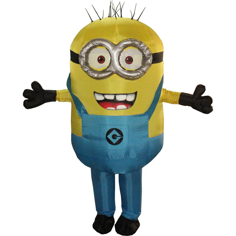 New Halloween Cosplay Party Costume Adult Minion Inflatable Minion Costume Mascot Blue Green Red Color Minion