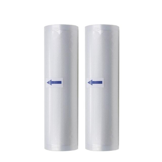 2 Rolls/Lot Vacuüm Sealmachine Voedsel Saver Zakken Voedsel Opbergzakken Saran Wrap voor Vacuüm Voedsel Sealer Verpakking Machine