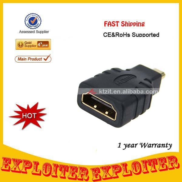 1440P V1.4 Micro HDMI Male to HDMI Female Converter/Connector Adapter,Free Shipping