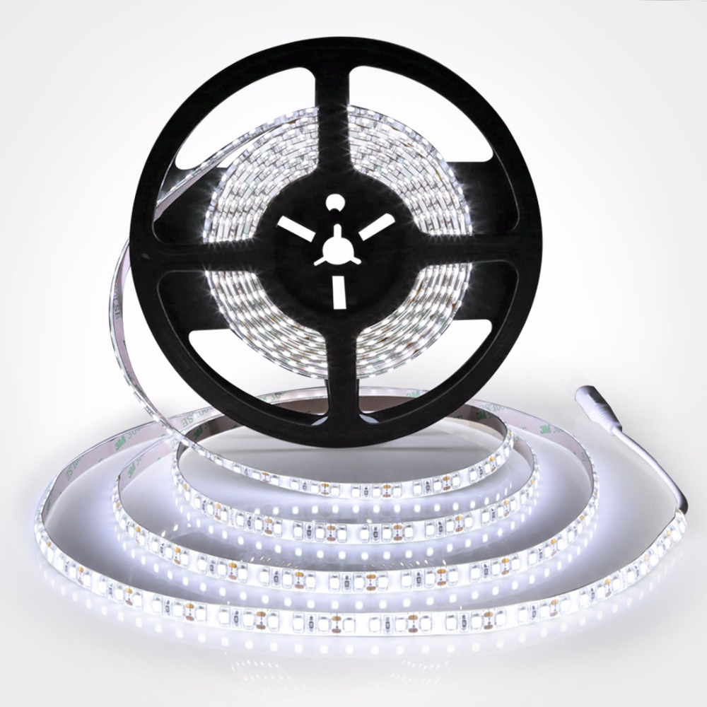 LED Strip 2835 Waterproof DC12V Flexible LED Light 120 leds/m 5m/lot White 5050 5630 Led Strip Lighting TV LCD PC background ...