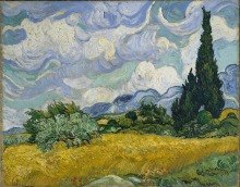 Wheat Field with Cypresses by Vincent Van Gogh Handpainted