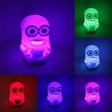 Luminaria-де-меса приспешников гадкий цифры я ночной изменение красочные игрушка цвета свет