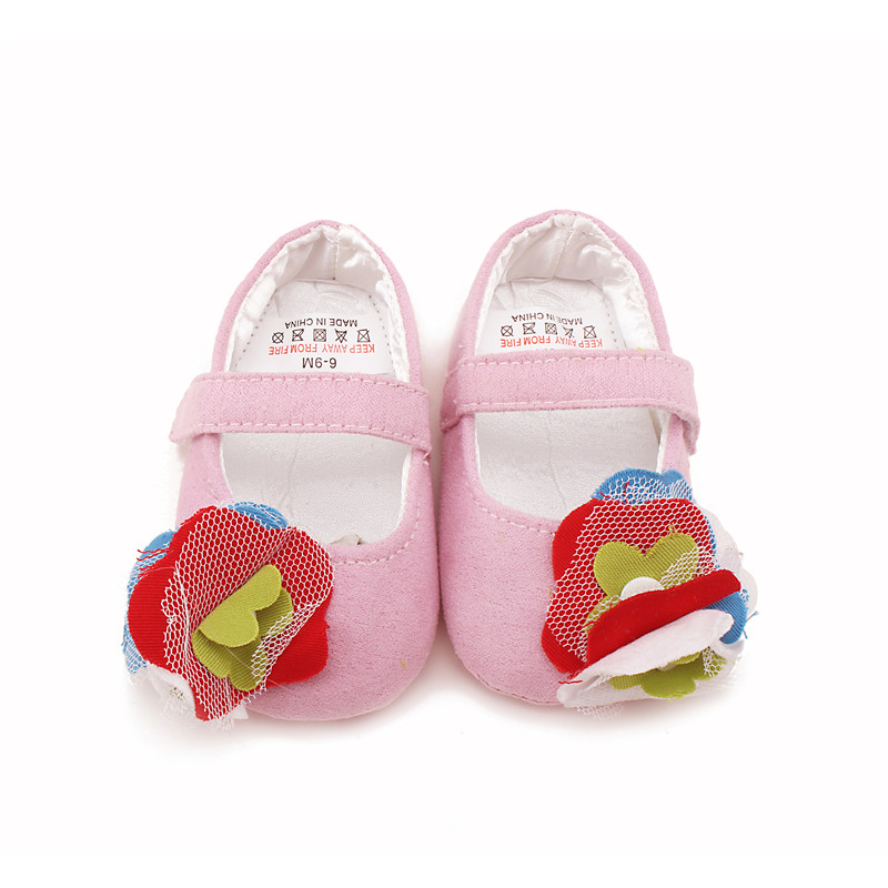 Delebao Infant Toddlers Farverige Flower Princess Sko Canvas Soft Sole Baby Sko For 0-18 Måneder Engros