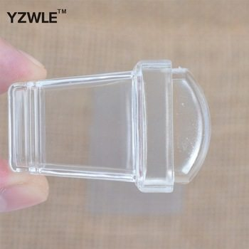 YZWLE New! 1 Pc Pure Clear Jelly Silicone Rectangular Nails Stamp & Scraper Tools - Sticky #GD-07