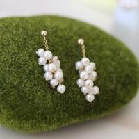 Lii Ji AAA 3 4mm Nearround Freshwater Pearl,Moonstone Stud Earring 925 Sterling Silver Gold Color Earring Fancy Jewelry