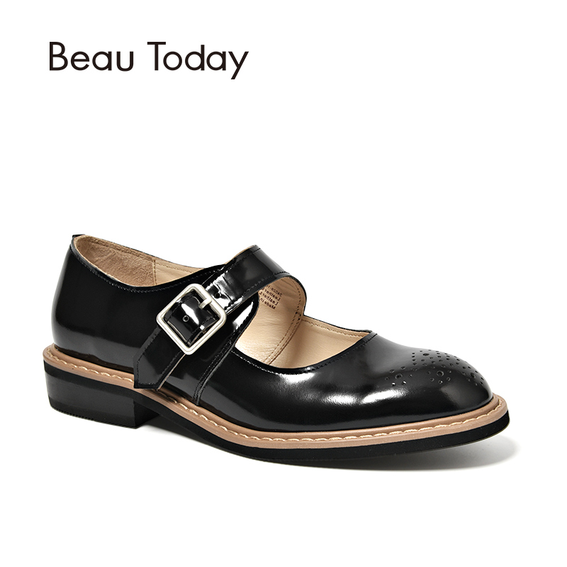 BeauToday Female Pumps Patent Leather Sweet Style Round Toe Top Brand Handmade Women Shoes 24028 sweet women s pumps with two piece and patent leather design