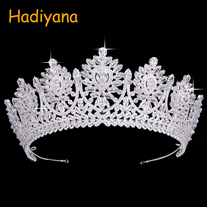 Tiaras And Crowns Simple Novel Design Bridal Hair Accessories Grace For Women With AAA Cubic Zirconia