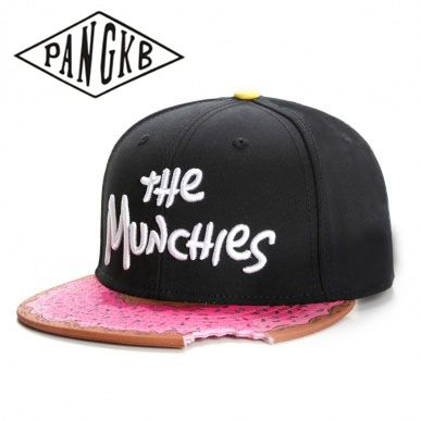 PANGKB Brand MUNCHIES   CAP   snacks pink snapback hat men women adult hip hop Headwear outdoor casual sun   baseball     cap   gorras bone