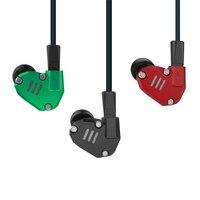 Monitor Earphone KZ ZS6 2DD 2BA 8 Drivers Hybrid Earphones Earhook HIFI Stereo Sports Headphone Running
