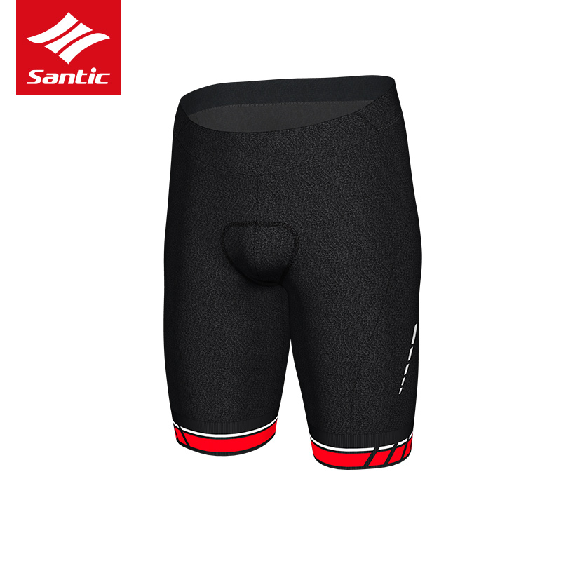 Santic Men Cycling Shorts Bike Sport Downhill Bicycle Shorts Triathlon Black Reflective GEL Pad MTB Shorts Quick Dry Bike Shorts