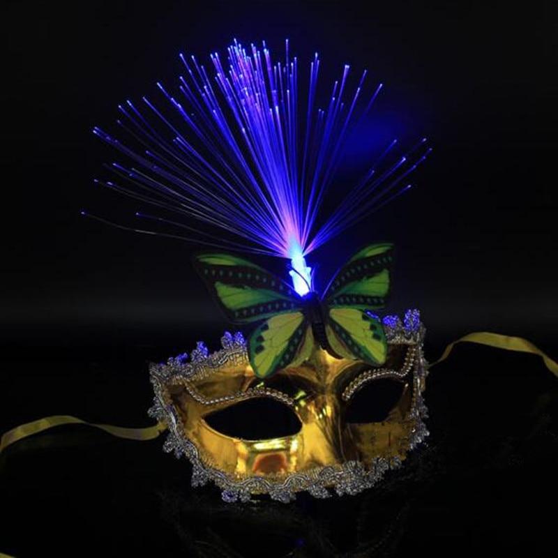 Kvinnor Flickor Sexig LED Blinkande Butterfly Mask Glödande Ljus - Semester och fester - Foto 2