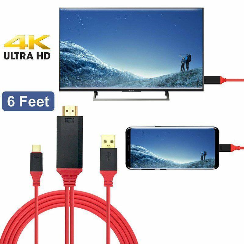 USB 3,1 Type C к HDMI-совместимый кабель адаптер конвертер Ultra1080P 4k зарядка HDTV видео для Samsung Galaxy S9/S8/Note 9