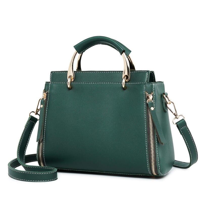Genuine Leather Women Handbag Black Cow Leather Fashion Handbag Zipper Messenger Bag Female Fashion Totes Bag Crossbody new C647 цена