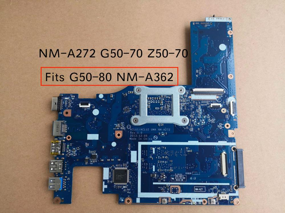 Image 2 - Free Shipping New For Lenovo G50 70 G50 70M Z50 70 G50 80 NM A272 NM A362 notebook motherboard i7 4510u 5B20G36670-in Motherboards from Computer & Office