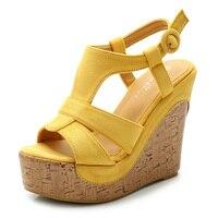 Platform Sandals Wedges Shoes For Women Platform High Heel Sandals Women T Strap Bohemia Sweet Sandals