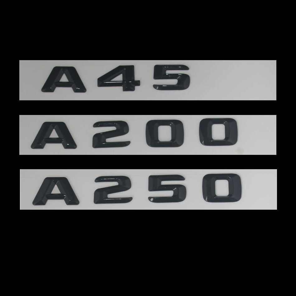 3D W177 W176 סמל A45 A200 A180 A250 מכתב אוטומטי רכב מדבקת תג לוגו Emblema אביזרי CLA לmersedes מרצדס בנץ AMG