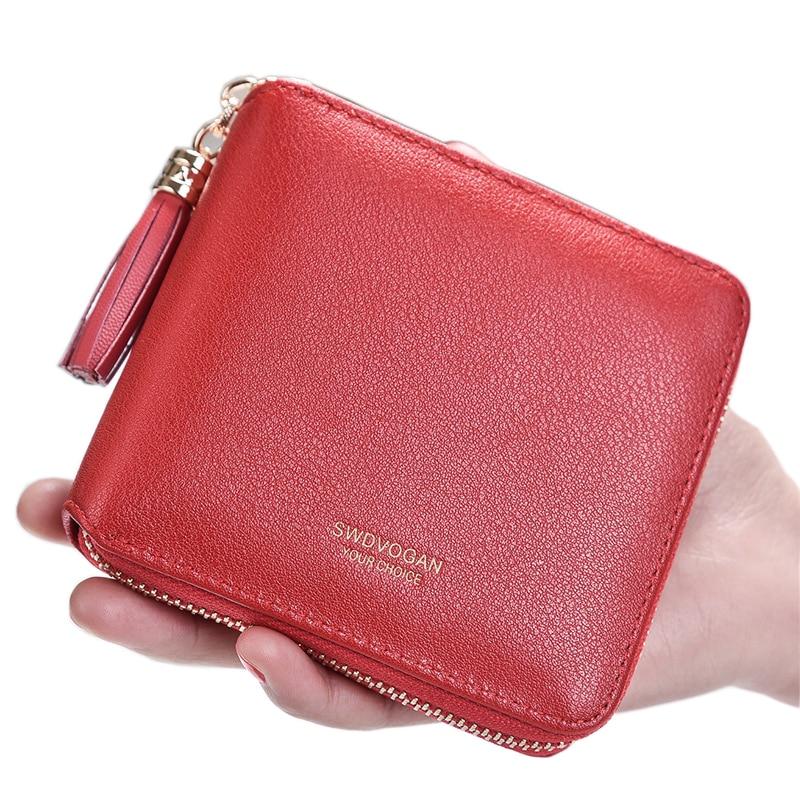 2018 Neue Designer Nette Quaste Brieftasche Für Frauen Dame Mini Kupplung Geldbörse Karte Halter Tasche Mädchen Kurze Geldbörsen Zipper GroßEs Sortiment