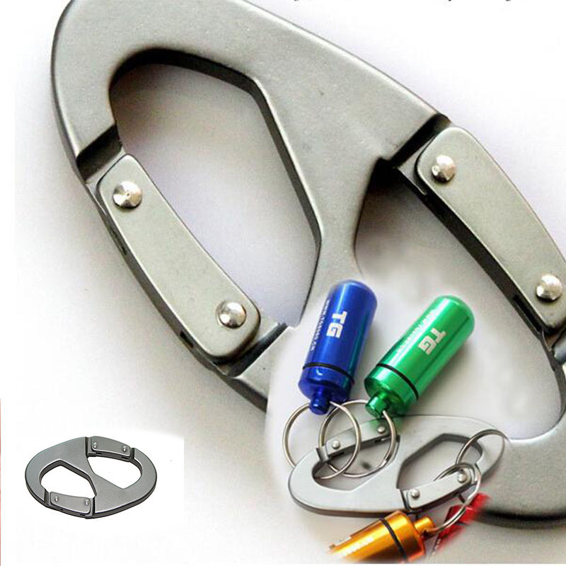 Travel Scouts Keychain Hiking Aluminum Buckle Carabiner Snap Clip