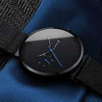Neue Uhr Männer Mode Lässig Quarz Uhren Wasserdicht Blau Punkt Einfache Männer Armbanduhr Männliche Datum Woche Uhr Relogio Masculino