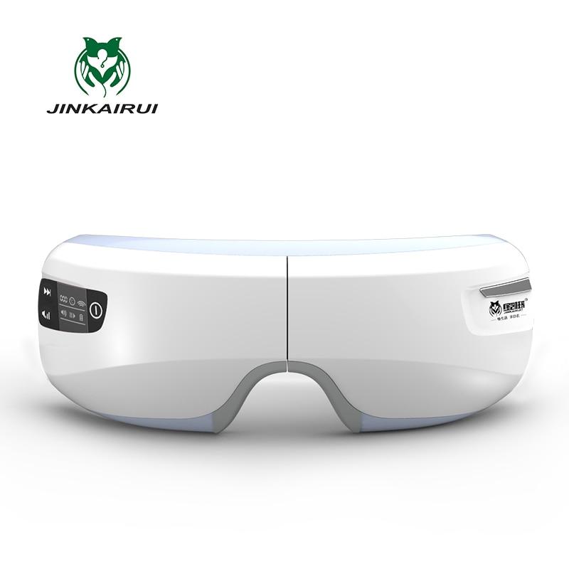 Elettrico ricaricabile Pressione Dell'aria Massager Dell'occhio con la Mp3 Funzioni di Vibrazione Senza Fili Magnetico Lontano Infrarosso di Riscaldamento a raggi infrarossi Usb Occhiali