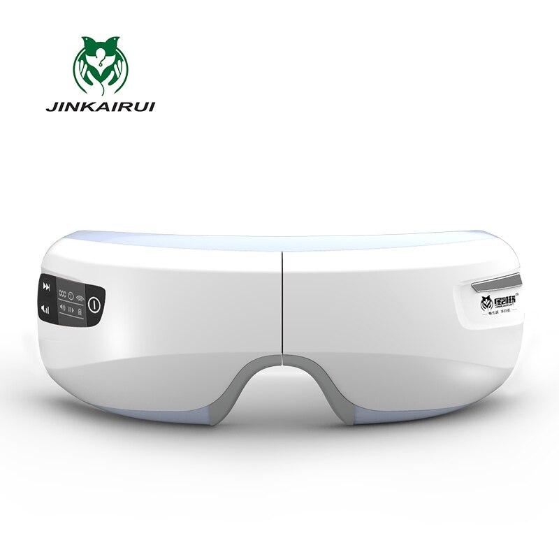 Rechargeable Électrique Air Pression Eye Massager avec Mp3 Fonctions Sans Fil Vibration Magnétique infrarouge lointain Chauffage Usb Lunettes