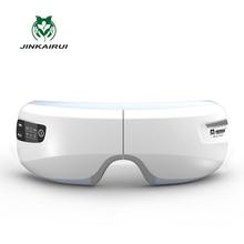 Перезаряжаемые Электрический воздушный Давление массажер для глаз с Mp3 функции Беспроводной вибрации Магнитный далеко инфракрасного отопления Usb очки