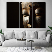 Large Size 3 Piece Poster and prints  Canvas Art Abstract Buddha Painting Wall For Living Room Home Decor Modern