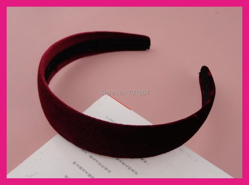 Home Flight Tracker 10pcs 30mm Wine Red Velvet Fabric Covered Plain Plastic Hair Headbands At Free Shipping,bargain For Bulk