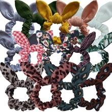 Bunny Ear Hair Scrunchie Girls/Women Knot Bow Hair Bands Hair tie Bows Rabbit Ear Elastic Ponytail Holder Elastic Bands Hair bow