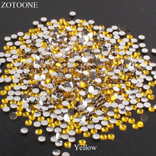 ZOTOONE Resin FlatBack Non Hotfix Rhinestone For Clothes Glue On Nails Art Decoration AB Crystals Strass Applique Scrapbooking