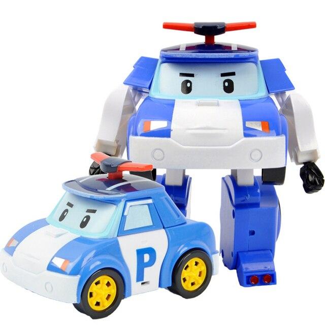 Figuras de ação Modelo de Transformação Robô Coréia Anime Robocar Poli Carro Crianças Meninos Brinquedos Para As Crianças Presente F4