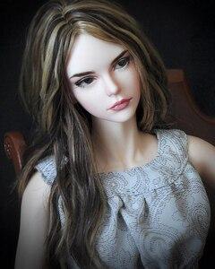 Image 4 - HeHeBJD 1/3 güzel kız Vera ücretsiz gözler reçine modeli yüksek kaliteli oyuncaklar