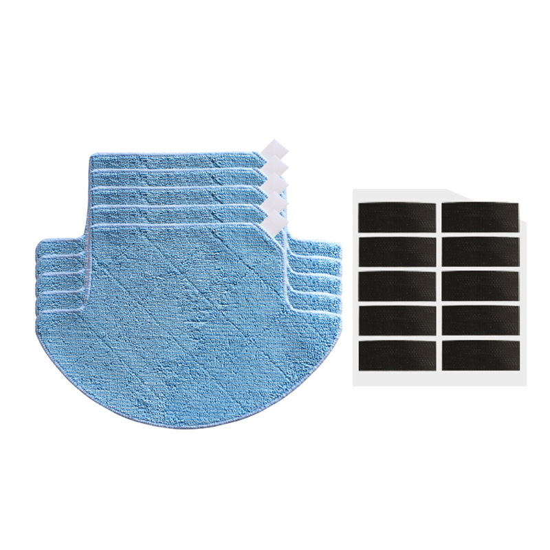 5* Mop Cloth pads mop + 10* magic paste for chuwi ilife v7s pro v7s robot vacuum cleaner parts cleaning mop cloths replacement 12pcs lot high quality robot vacuum cleaner wet mop hobot168 188 window clean mop cloth weeper vacuum cleaner parts